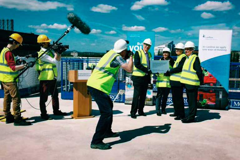 University of Birmingham's new library topping out ceremony