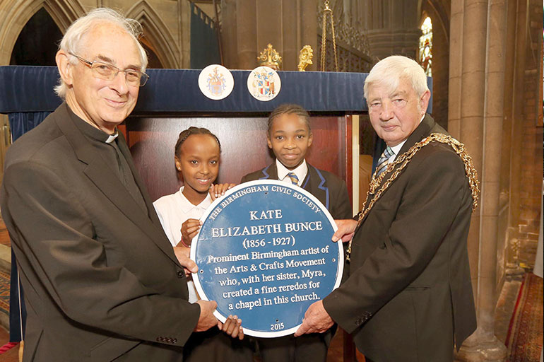 Blue Plaque to Kate Bunce unveiled as part of Birmingham's first Heritage Week