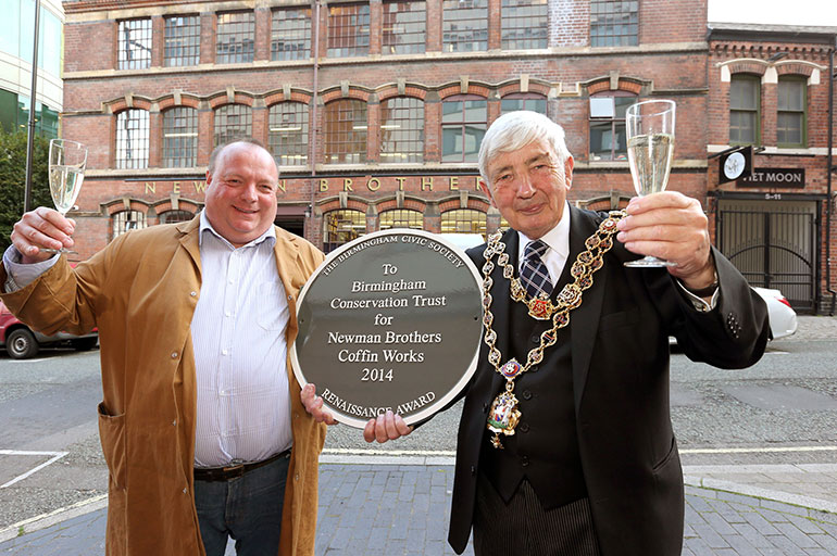 Our 2014 Renaissance Award to the Coffin Works unveiled