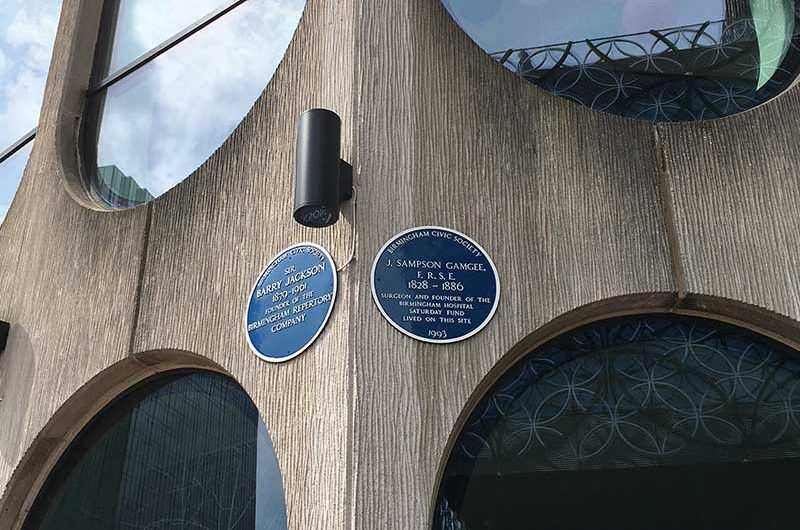 Which building has two Blue Plaques?