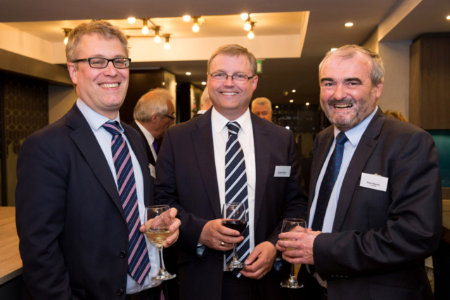 Pictured from left, Sean Elson, Richard Moxon, Robin Barnes