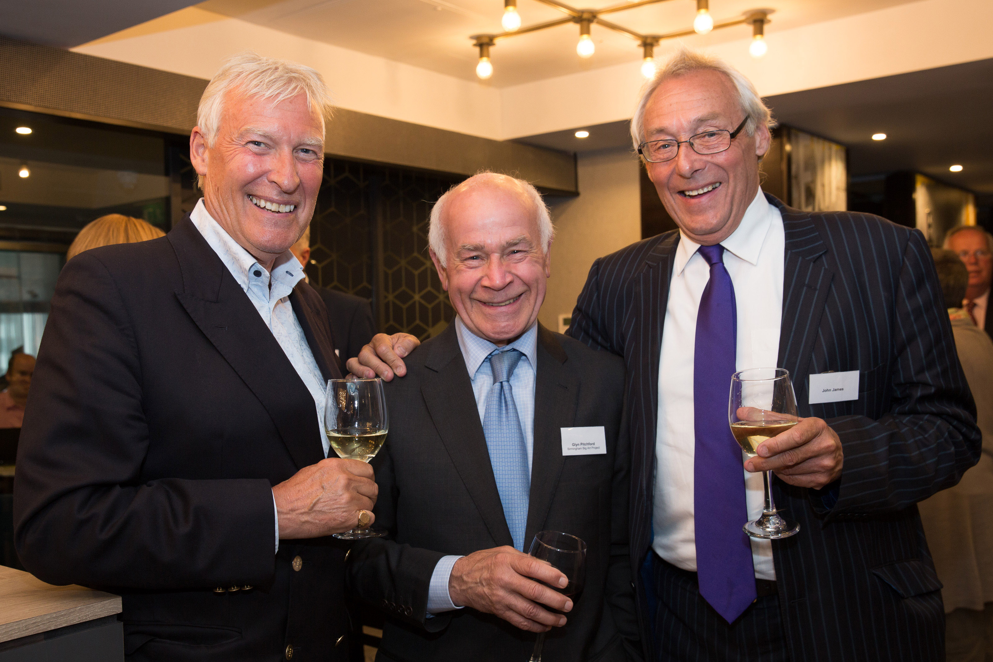 Pictured from left, Derek Inman, Glyn Pitchford, John James.