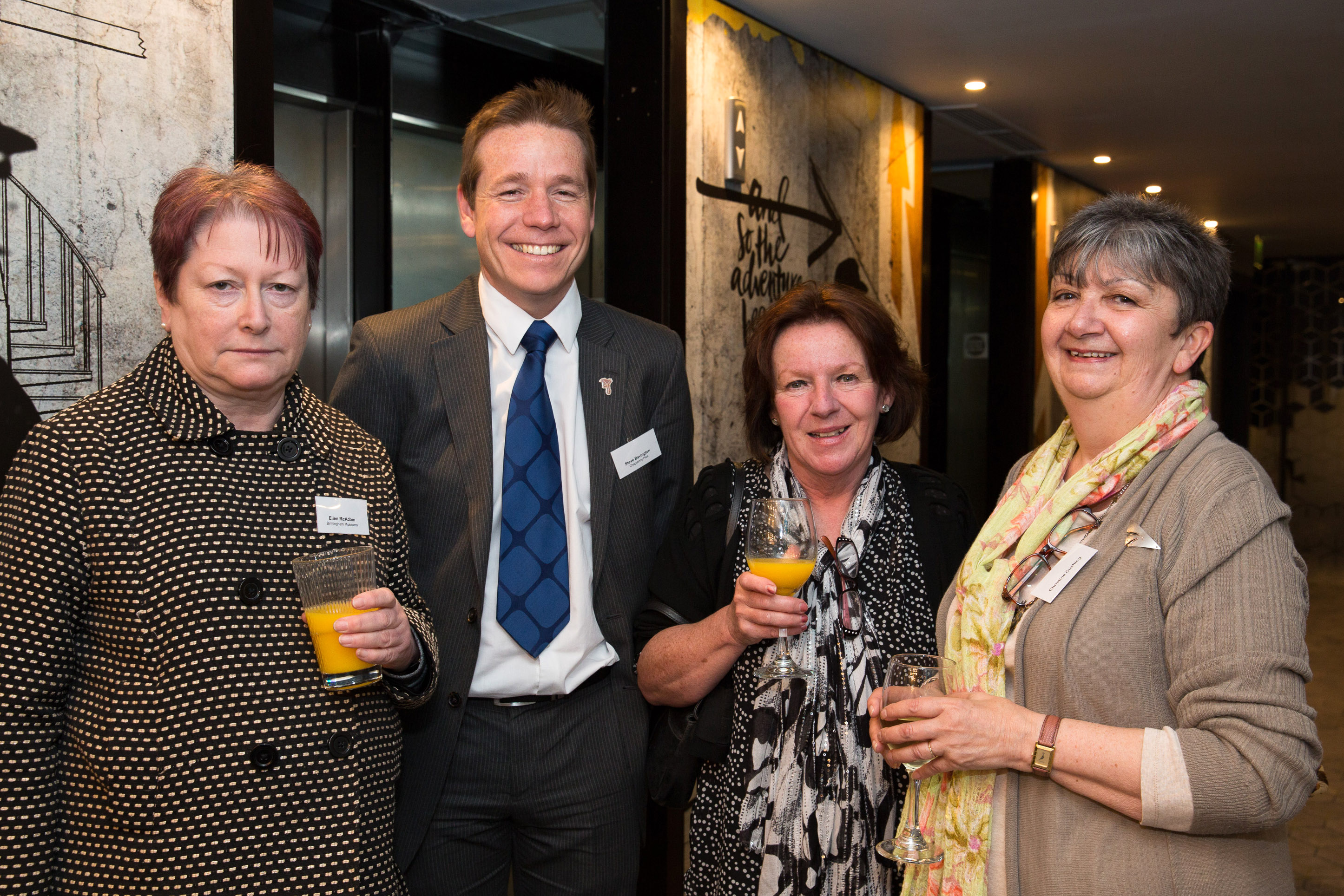 Pictured from left, Ellen McAdam, Steve Bavington, Sue Behan, Christine Cushing.