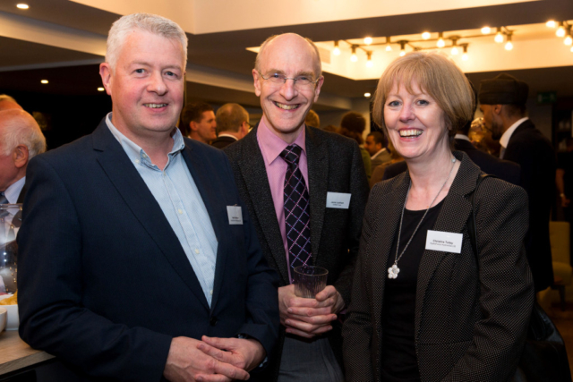 Pictured from left, Neil Kelleher, Jamie Justham, Christine Tolley.
