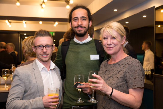 Pictured from left, Sam Reader, Will Pace, Karen Daw.