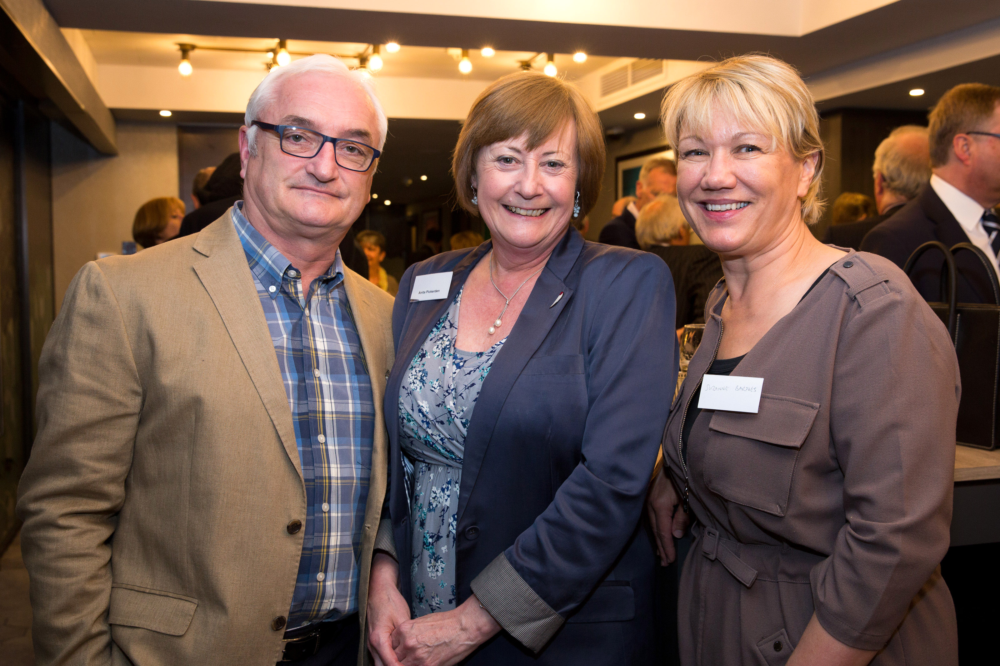 Pictured from left, Bill Gough, Anita Pickerden, Suzanne Barnes.