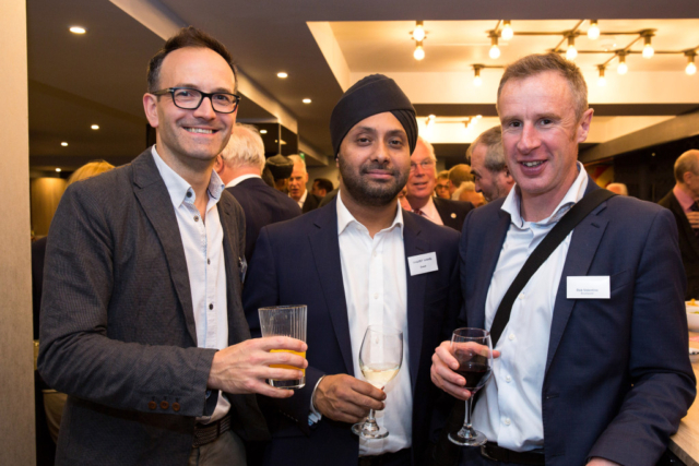 Pictured from left, Philip Twiss, Sandeep Shawbi, Rob Valentine.