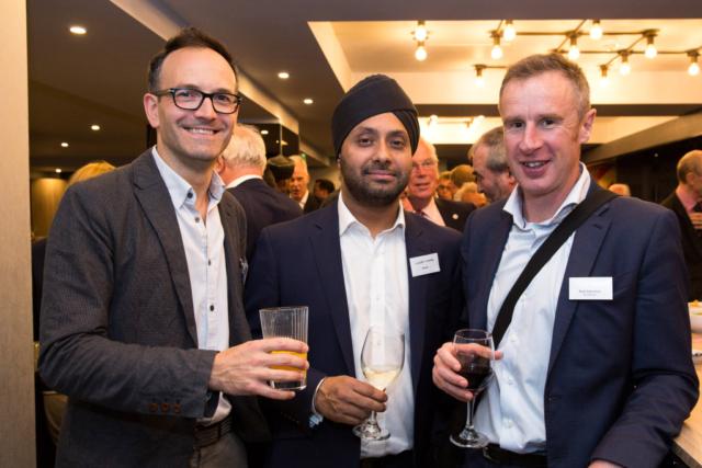 Pictured from left, Philip Twiss, Sandeep Shawbi, Rob Valentine.
