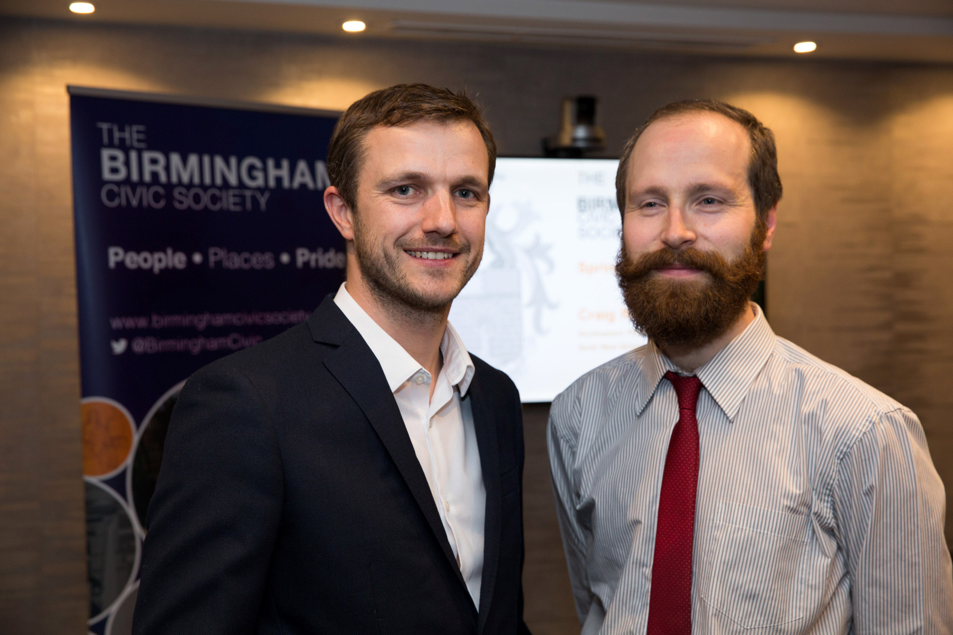 Pictured, Gavin Orton, left, with Craig Rowbottom