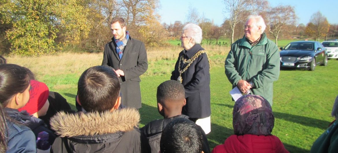 Lord Mayor plants Birmingham Trees for Life's  70,000th tree in memory of the late Councillor Ray Hassall