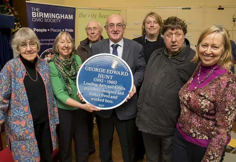 Unveiling of a Blue Plaque to George Hunt (1892-1960) on 21 December 2017