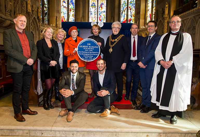 Blue Plaque to our first Chairman unveiled
