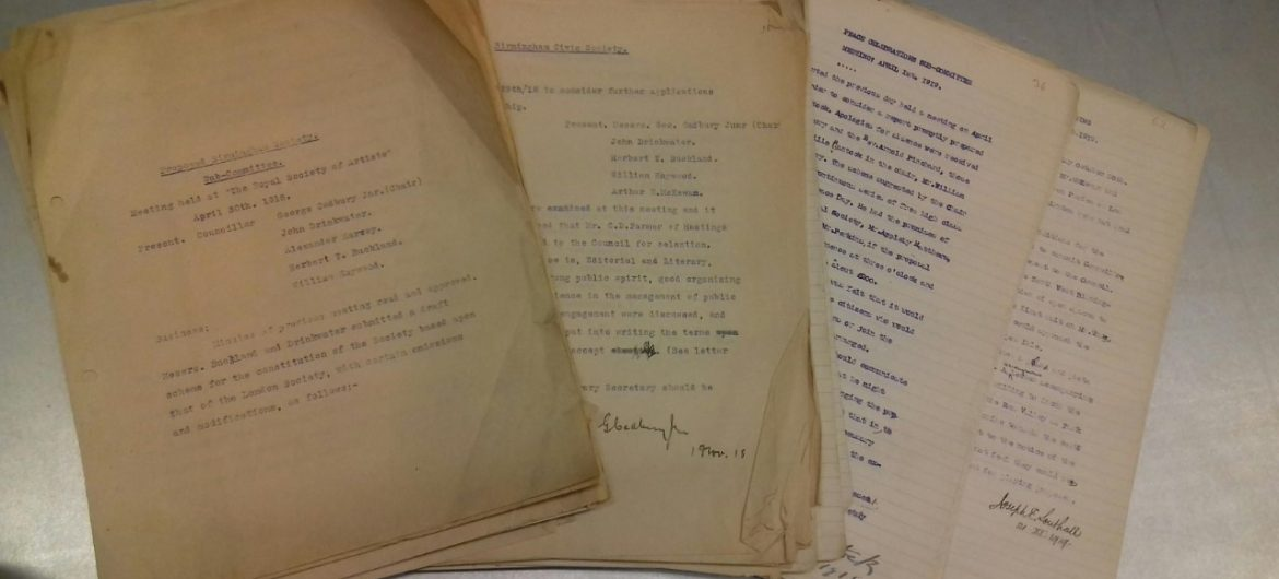 The Archives of Birmingham Civic Society by Fiona Tait, Archive Researcher