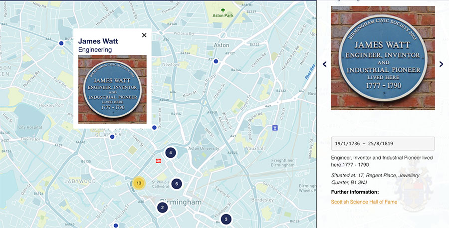 Our Blue Plaque map is now live!