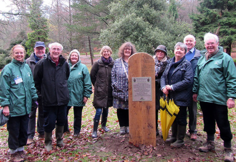 BTfL unveil Society's Centenary Arboretum plaque