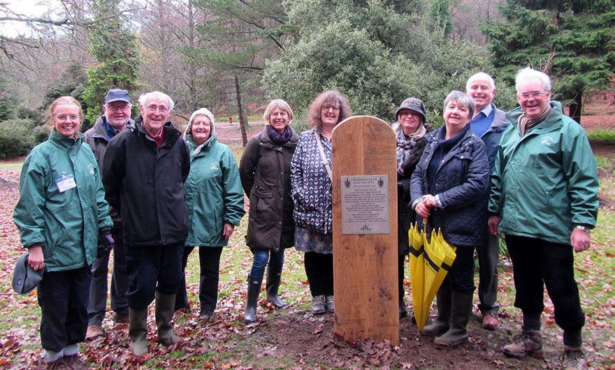 BTfL unveil Society's Centenary Arboretum plaque