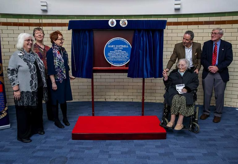 Mary Cottrell Blue Plaque unveiled