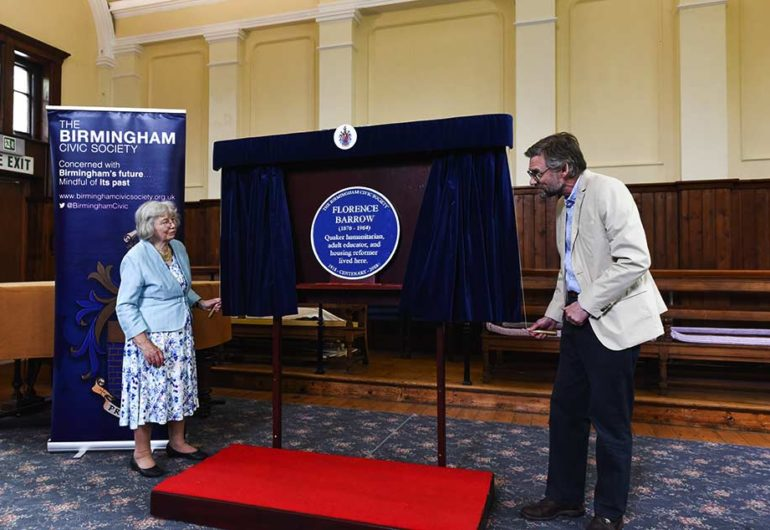 Blue Plaque to Florence Barrow unveiled