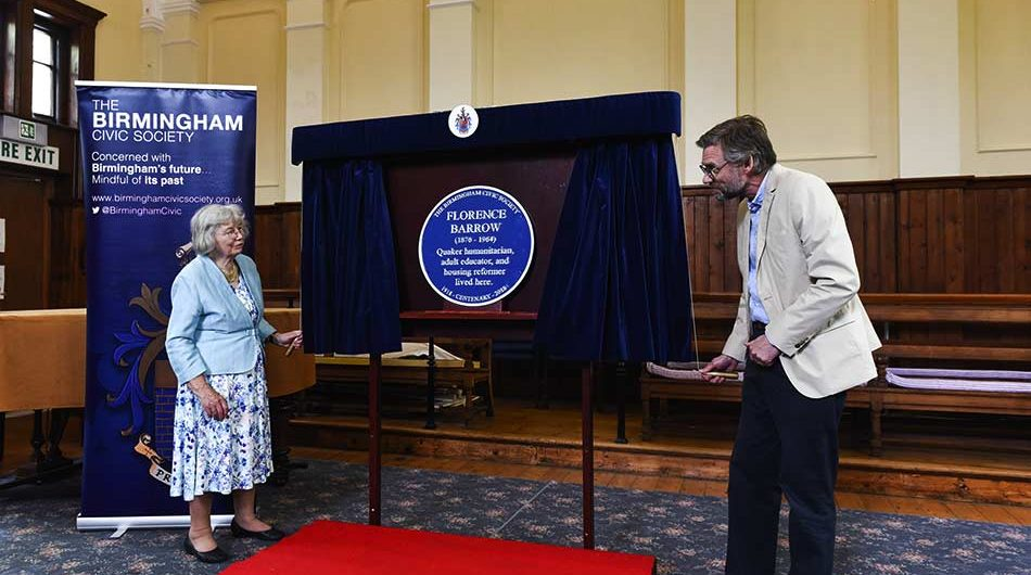 Blue Plaque to Florence Barrow unveiled