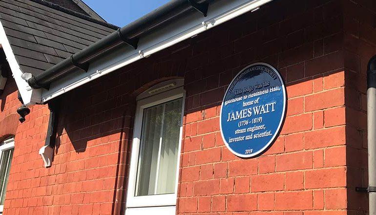 Blue Plaque to James Watt unveiled