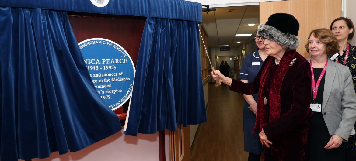 A blue plaque and a royal return for Birmingham St Mary's Hospice