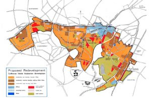 Calthorpe Estate masterplan map highlighted in different colours
