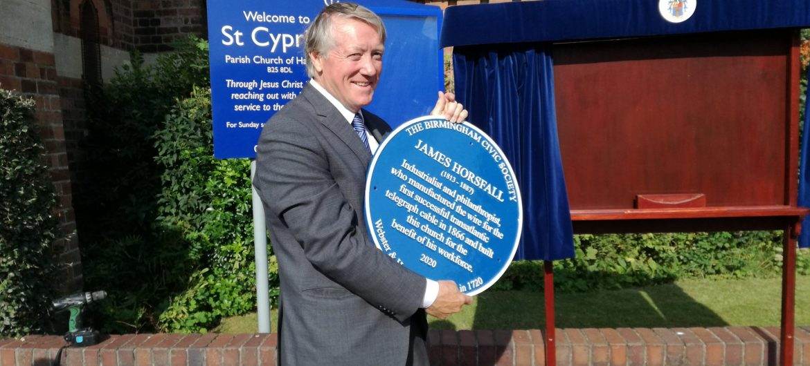Blue plaque unveiled for pioneering industrialist