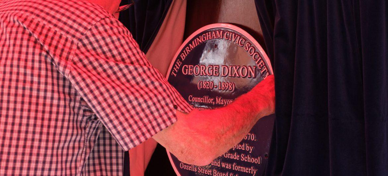 George Dixon Blue Plaque unveiling