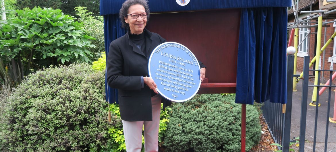 148th anniversary of the opening of Cannon Hill Park commemorated with new Blue Plaque to Louisa Ryland